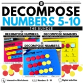 Decomposing numbers shake and spill build it and break it