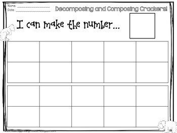 Decomposing/Composing Animal Crackers Freebie!