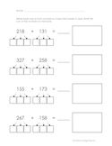 Decomposition 3-Digit Addition - Common Core Alligned