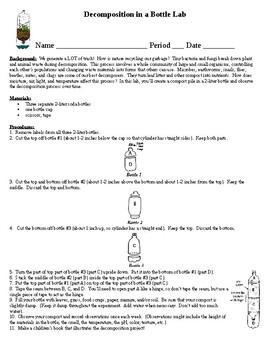 Decomposition Bottle Project