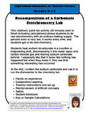 Decomposition of a Carbonate Stoichiometry Lab - Cheap and Easy