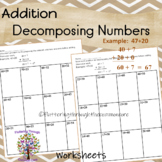 Addition Decomposing Numbers Worksheets