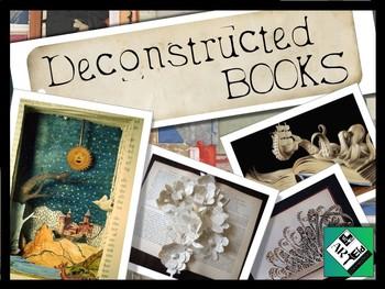 Deconstructed Books: Paper Sculpting Middle School & High School Art