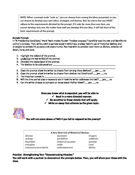 Deconstructing AP English Language Prompts