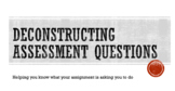 Deconstructing Questions Bundle