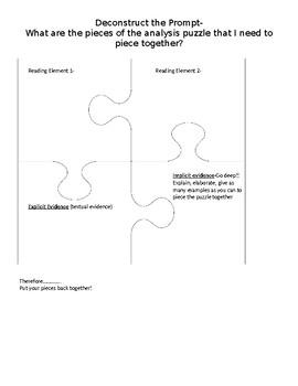 Deconstructing a Text Dependent Analysis Prompt