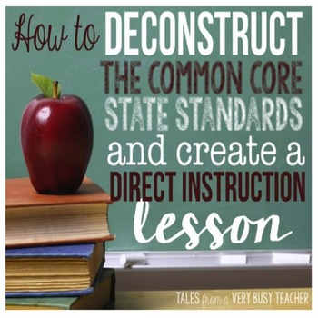How to...Deconstruct the Common Core {and write a Direct Instruction Lesson}