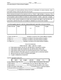 Deconstructing the Photosynthesis Equation worksheet with KEY