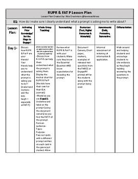 Deconstructing the Prompt: RUPR & FAT P Lesson Plan