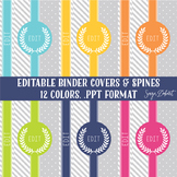 Classroom Decor - 12 Elegant Binder Covers and Spines Polka Dots and Stripes