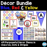 Editable Décor Bundle in Primary Colors (Blue, Red & Yellow)