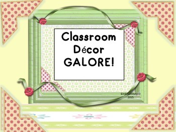 Decor Galore- Word Wall Letters and Number Words