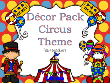"Decor Pack...""Circus Theme"""