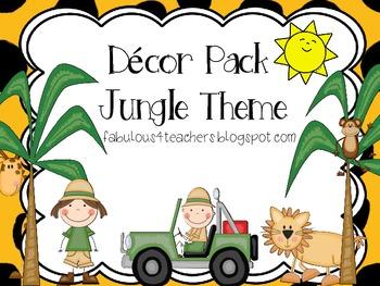 Decor Pack Jungle/Safari Theme {Editable}