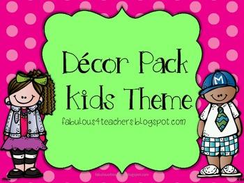Decor Pack Kids Theme {Editable}