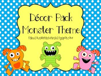 Decor Pack Monster Theme {Editable}