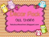 Decor Pack Owl Theme {Editable}