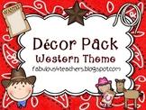 Decor Pack Western Theme {Editable}