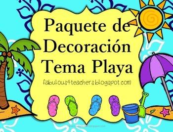 Decor Pack...Beach Spanish Version