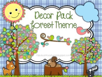 Decor Pack...Forest Theme