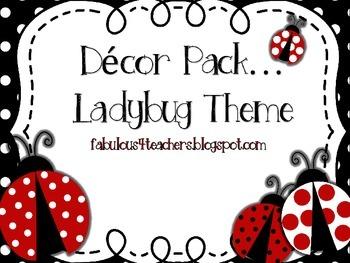Decor Pack...Ladybug Theme