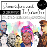 Decor and Interactive Posters - Writers and Speakers - QR Codes
