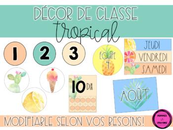 Décor de classe - Tropical