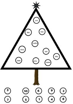 Decora el árbol de Navidad con números