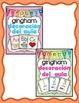 Decoración del aula: 4 conjuntos gingham