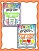 Decoración del aula: 4 conjuntos gingham Bundle