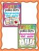 Decoración del aula: 4 conjuntos polka dots