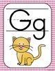 Decoración del aula: alfabeto gingham