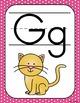 Decoración del aula: alfabeto polka dots