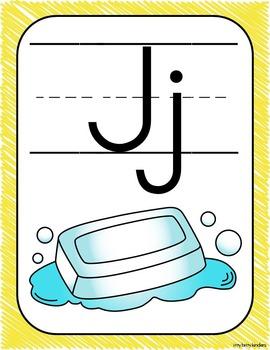 Decoración del aula: alfabeto scribbles