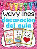 Decoración del aula: alfabeto wavy lines
