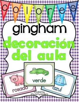 Decoración del aula: colores gingham