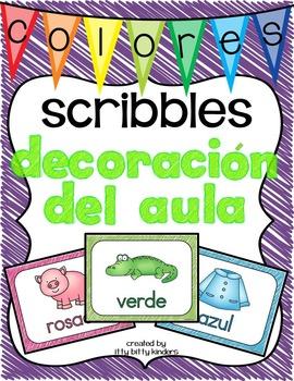 Decoración del aula: colores scribbles