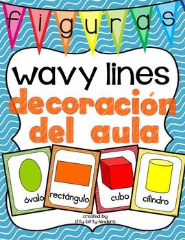 Decoración del aula: figuras wavy lines