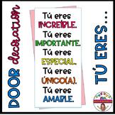 "Decoración de Puerta Motivadora: ""Tú eres…"" (solo en español)"