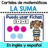 Decoracion de aula - Suma en ingles y espanol
