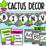 Cactus Classroom Decoration bundle/ Decoración tema cactus abecedario normas