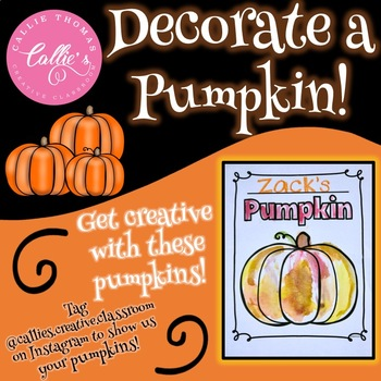 Decorate A Pumpkin (B&W Coloring Pages)