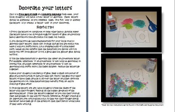 Printable Alphabet Letter Wall Letter of the Week Great for Sensory Learning Too