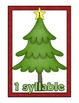 Decorate Christmas Trees with Syllables!