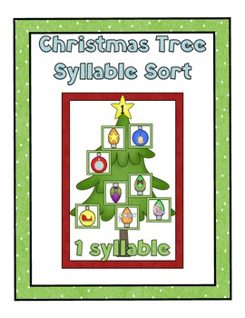 Free Decorate Christmas Trees with Syllables!