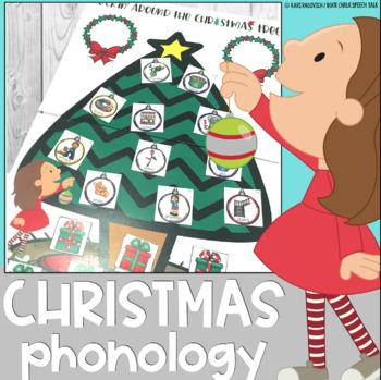 Christmas Phonology Speech Therapy Activity