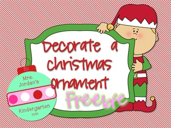 Decorate a Christmas Ornament