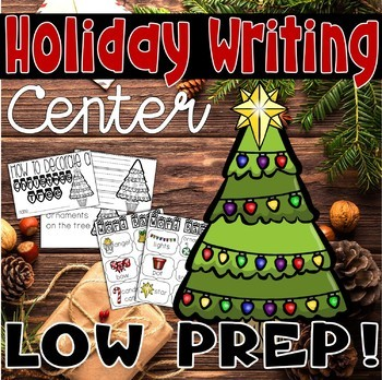 Christmas Tree Book and Reading/Writing Center Activities