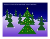 Decorate a Christmas Tree Math Story Problems Parts 1 and 2