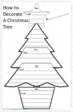 Decorate a Christmas Tree  Sequence Writing Project - First, Next, Then, Last